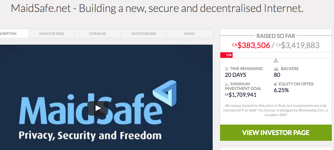#MaidSafe New Crowdfund Started – Coin Currency News