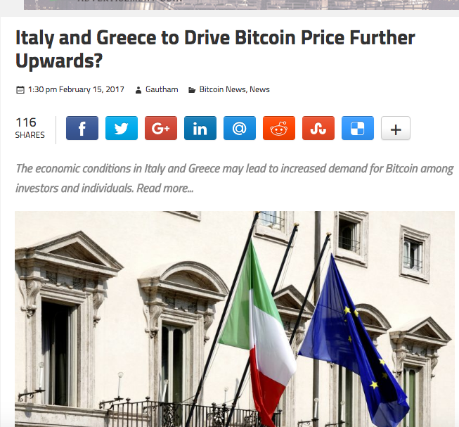 Greece, Italy Continue To Push For Bitcoin – Coin Currency News