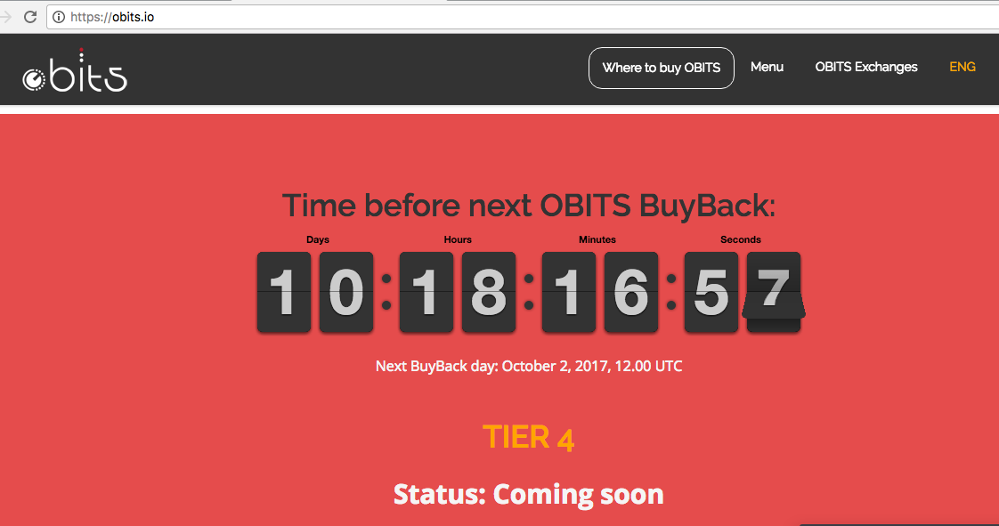 OBITS buyback coming soon