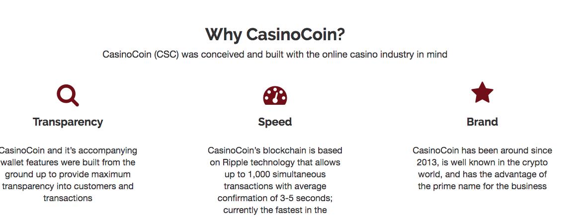 CSC CasinoCoin coin