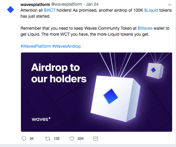 Waves Community Token description