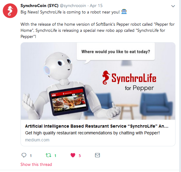Softbank Home Robots With Synchrolife App