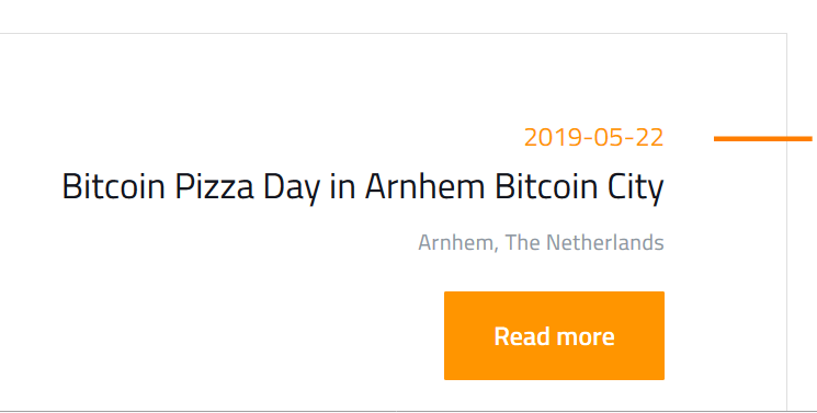 Bitcoin Events Worldwide #pizzaday