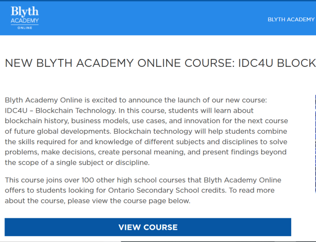 High School Blockchain Course International – Coin Currency
