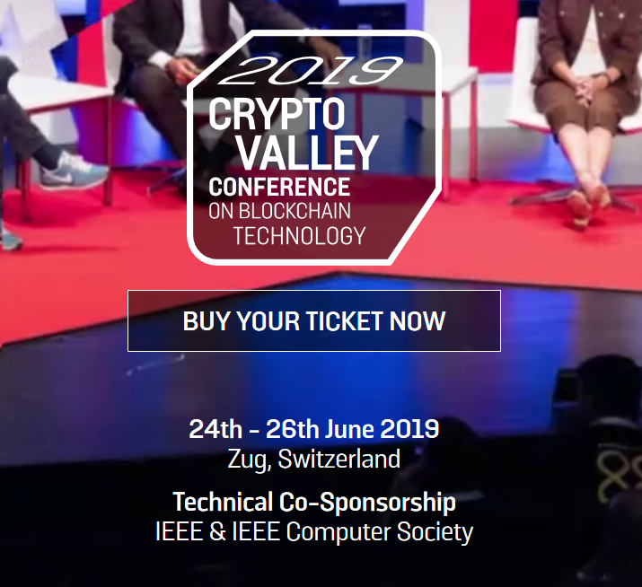 Crypto Valley Week from 21-26 June, Conference 24-26th