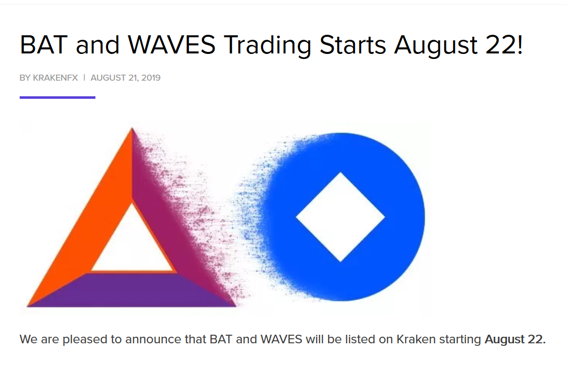 Kraken Exchange Adds Waves Coin To Listings